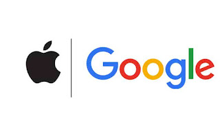 Google and apple logo