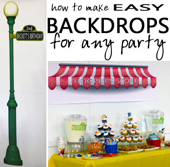 Entertaining With Style Easy Diy Party Backdrops Blue