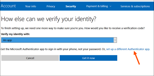 choose to use google authenticator for two-step verification of microsoft accounts