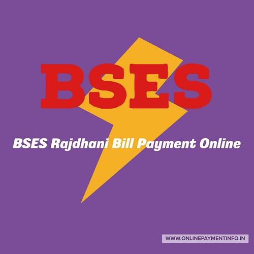 bses rajdhani bill payment online