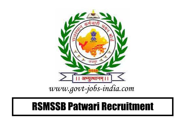 RSMSSB Patwari Recruitment 2020 – 4421 Patwari Vacancy – Last Date 26 February 2020