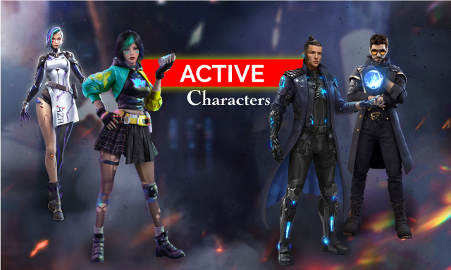 Garena Free Fire - Active Characters