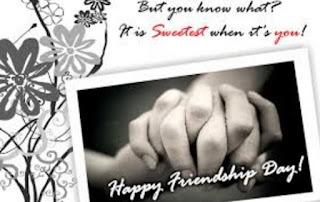 Beautiful happy Friendship day card Desgin