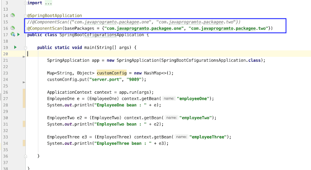 Scanning Multiple Paths Or Packages with @ComponentScan Annotation in Spring Boot