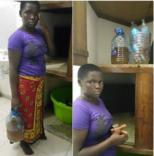 kenyan house girl urine cook employer