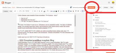 post artikel baru di blogger