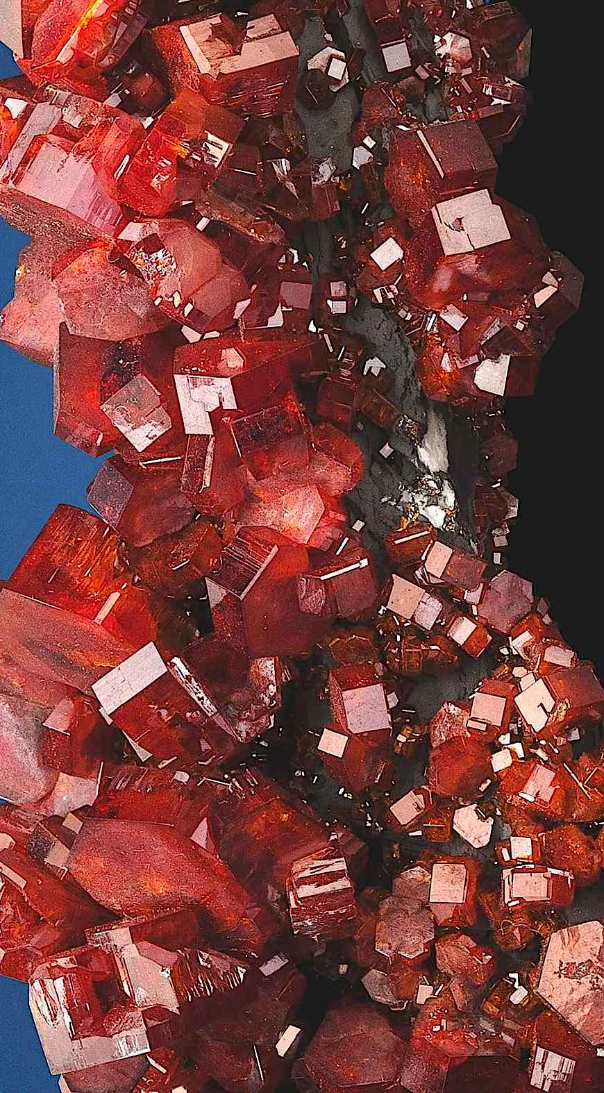 a red Vanadinite formation