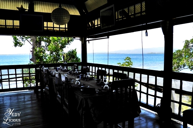 The beautiful view inside Badjao Seafront Restaurant at Puerto Princesa Palawan YedyLicious Manila Food and Travel Blog Best Restaurants in PPS Palawan