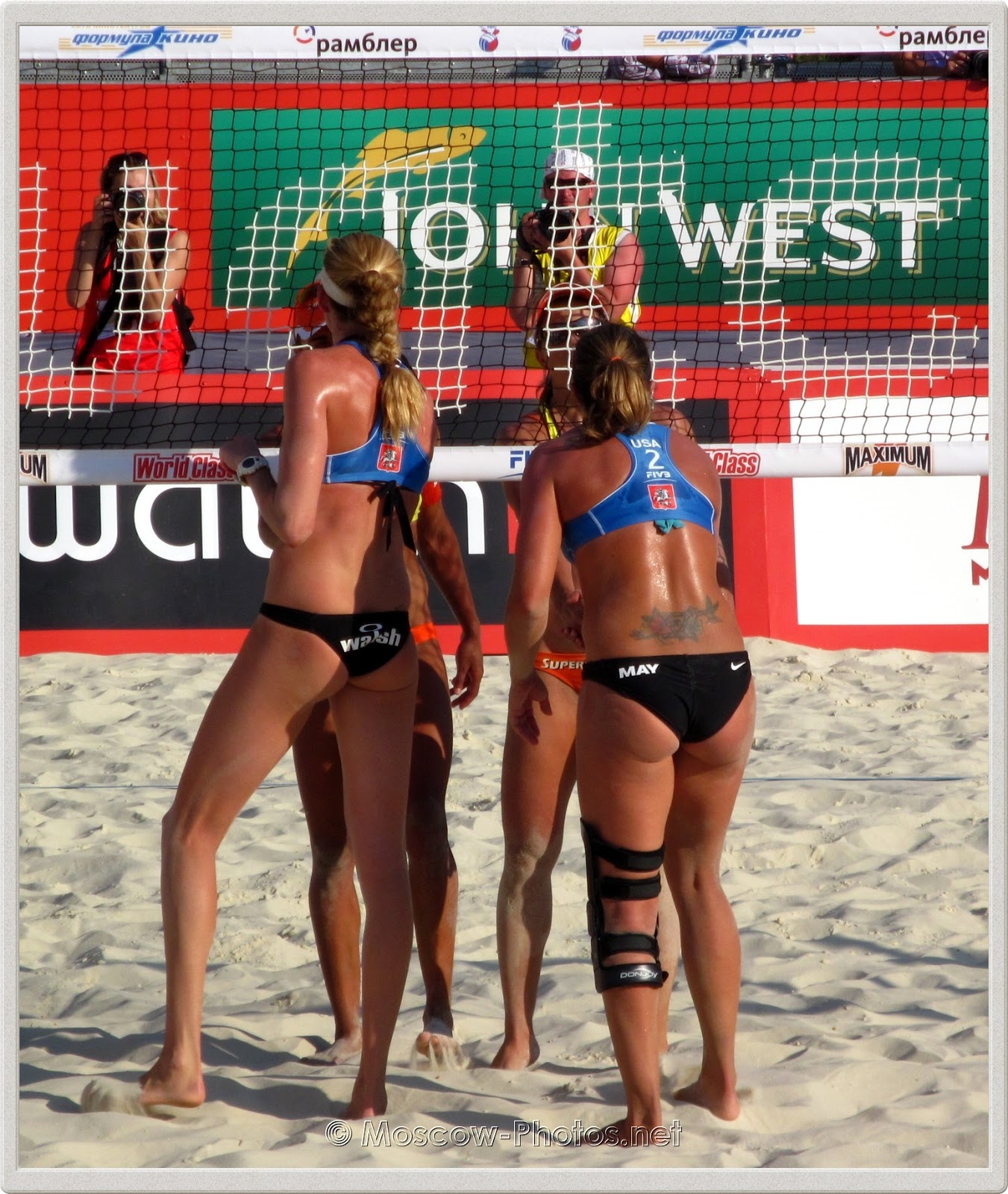 Kerri Walsh & Misty May-Treanor after the match