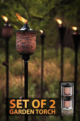 tiki torches, pretty tiki torches, mosquito repellant, Amazon Prime Day Deal