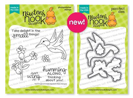Hummingbird   Stamp Set and coordinating Die Set by Newton's Nook Designs #newtonsnook
