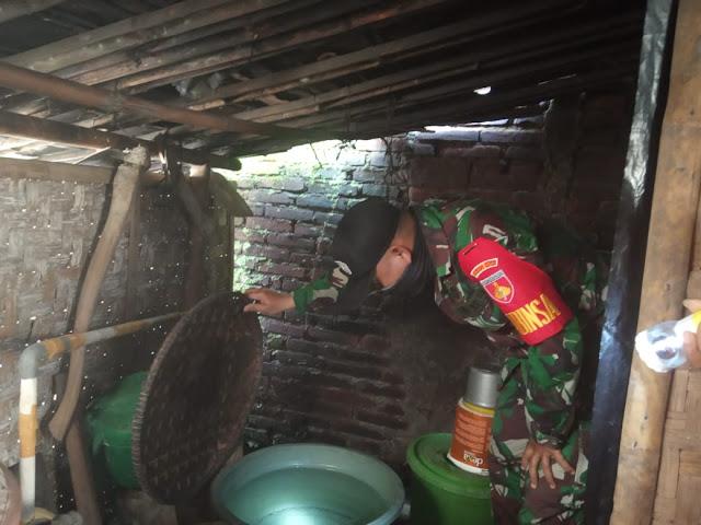Hujan Masih Sering Turun, Babinsa Mrebet Ajak Pencegahan DBD