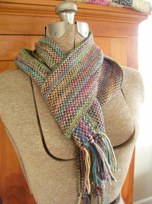 Linen Stitch Scarf - Free Knitting Pattern