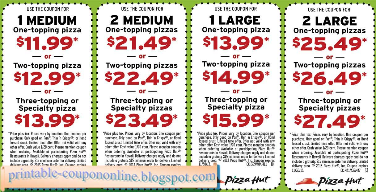 Pizzahut.com coupon code