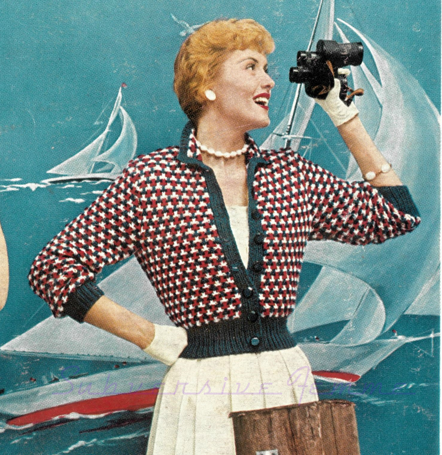 Free Vintage Knitting Patterns 1950s : The Vintage Pattern Files: 1950s Knitting - Nautical Topper in Thick Wool