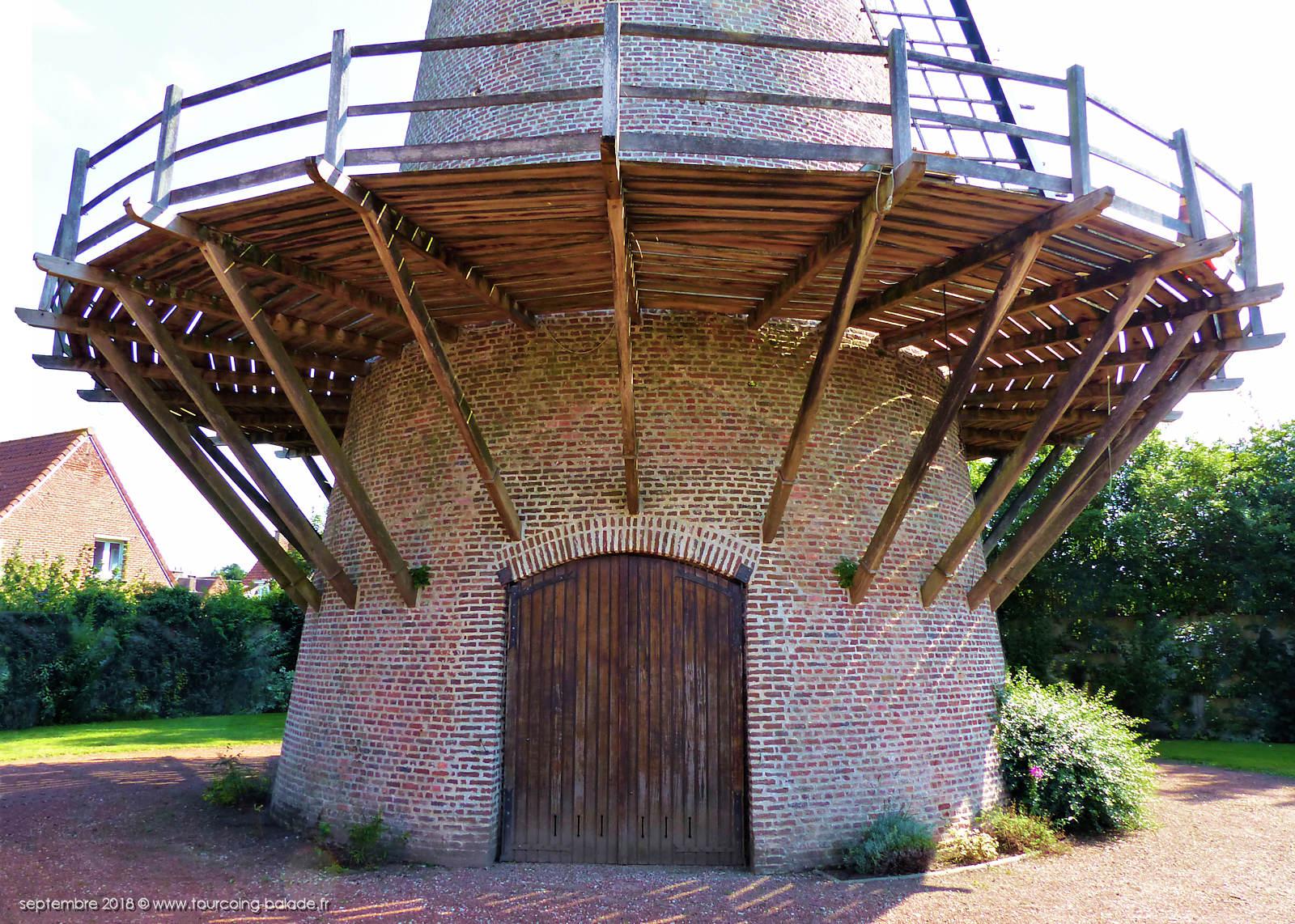 Moulin à plateforme ou à galerie - Halluin