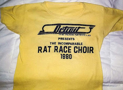 Rat Race Choir t-shirt from Detroit rock club 1980