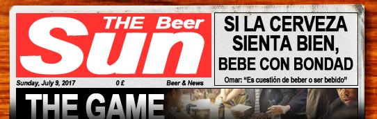 Dominical de verano con noticas sobre cerveza. Pulsa aquí si no te carga para leer el periódico