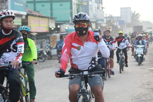 Dandin 0426/TB dan Komunitas Goes Tuba Bike Sport Tulang Bawang Laksanakan Olahraga Bersepeda Bersama
