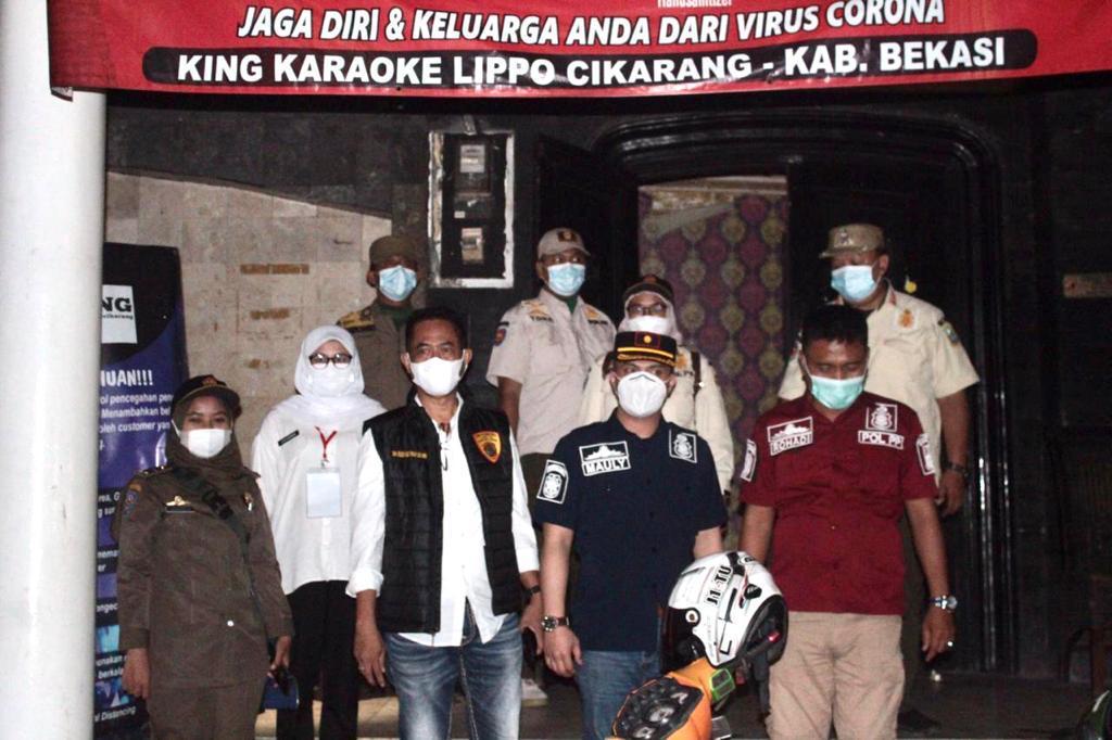 Jelang Ramadhan, Tempat Hiburan Malam  di Kabupaten Bekasi Disegel