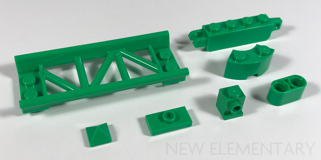 New LEGO Lot of 12 Lime Green 1x2 Plates