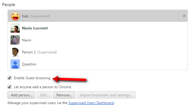 Enable Parental Control In Google Chrome