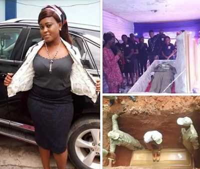 Tears as Female Corper Laid To Rest - Photos