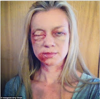 "Amy Smart maquillada para la película ""Run for your life"""
