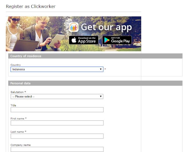 cara mendapatkan uang di clickworker