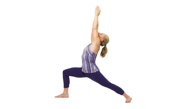 Virabhadrasana (i) or ,warrior pose,yoga pose, yoga asana,
