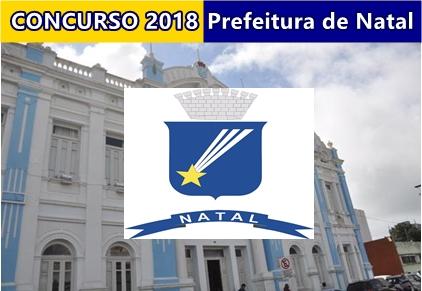 Edital concurso Prefeitura de Natal-RN 2018