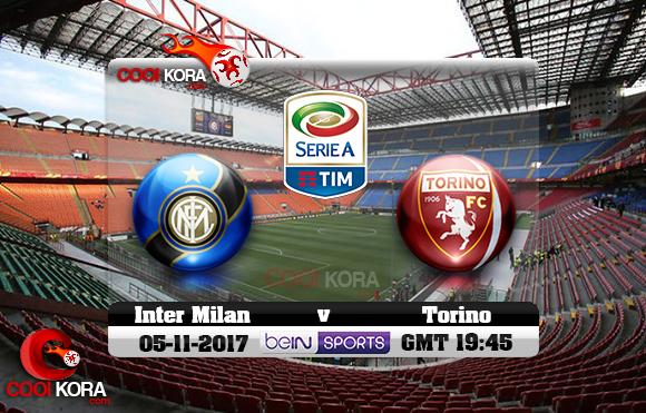 مشاهدة مباراة إنتر ميلان وتورينو اليوم 5-11-2017 في الدوري الإيطالي