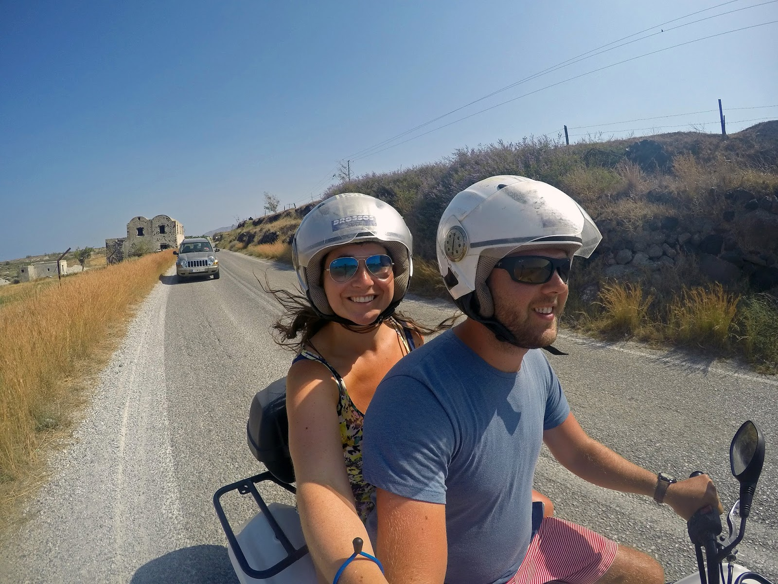 Quad biking around Santorini