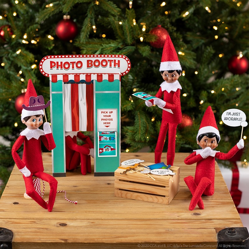 elf photo booth and photo props