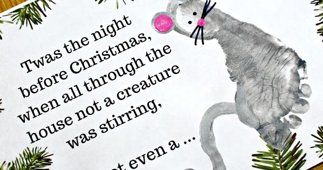 photograph about Twas the Night Before Christmas Printable named The Evening Just before Xmas Poem Printable Footprint Mouse
