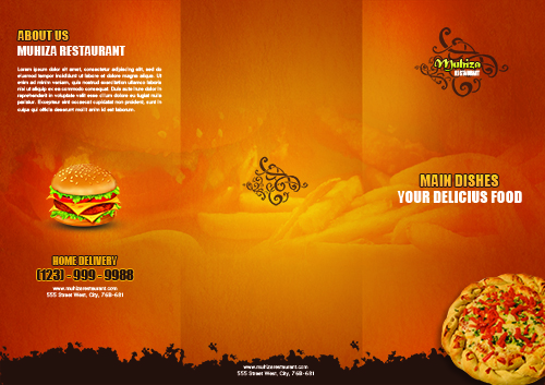 Free PSD Tri Fold Restaurant Brochure
