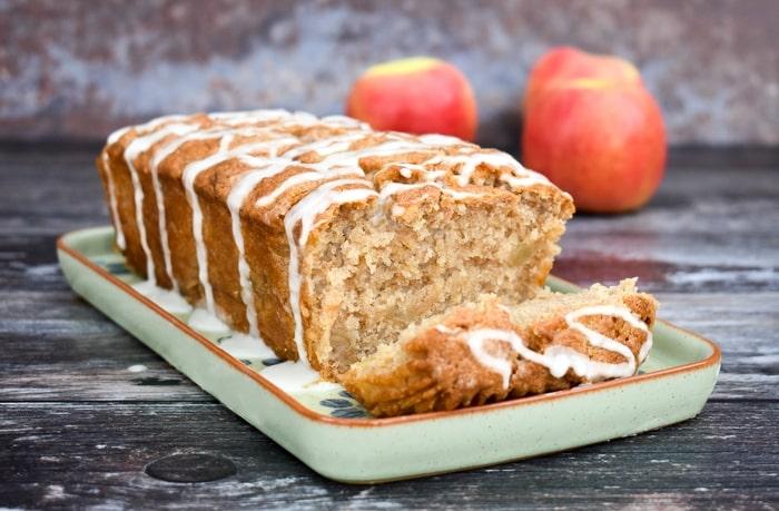 Easy vegan apple loaf cake