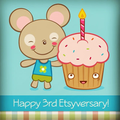 Happy 3rd Etsyversary to me!