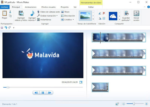 Windows Live Movie Maker - aplikasi edit video untuk youtuber pemula