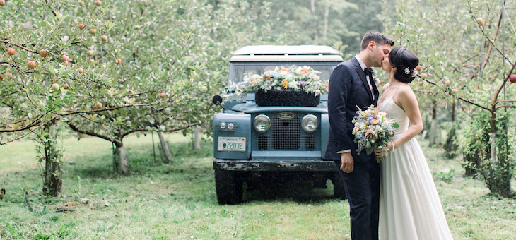 A Rainy & Romantic Farm Wedding in New Hampshire