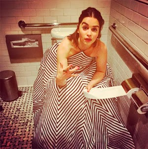Emilia Clark starred on the toilet
