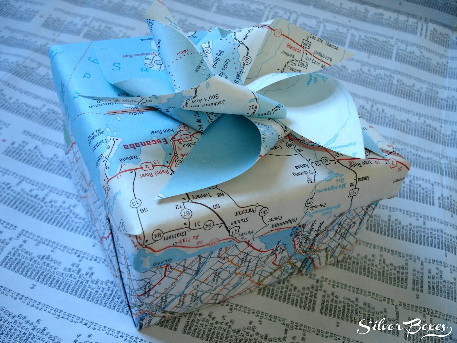 Silver Boxes  Map Gift Box Friday  August 17  2012