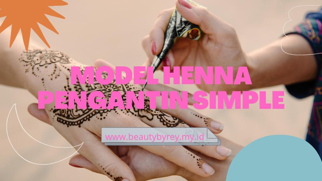 model henna simple