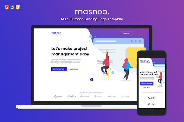 Masnoo Landing Page - Themeplatinum