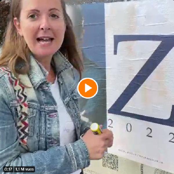"""[VIDEO] Charline Vanhoenacker, humoriste de France Inter appelle à taguer """"Zob"""" sur les affiches de Zemmour grimé en Hitler"""
