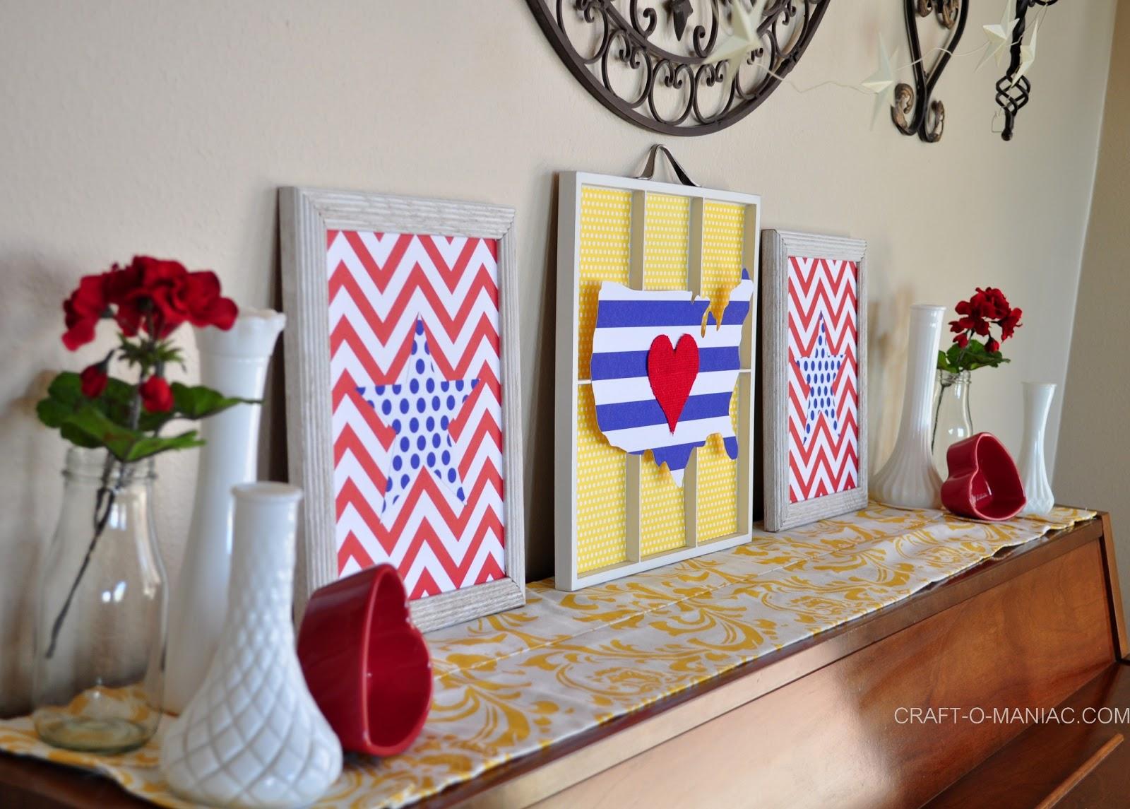 Patriotic Decor For Home: Patriotic Piano