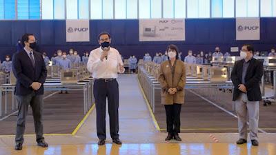 Presidente Vizcarra supervisa entrega ventiladores mecánicos fabricados en Perú