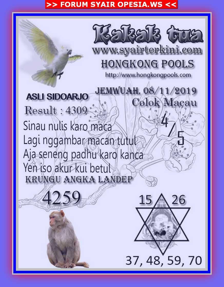 Kode syair Hongkong Jumat 8 November 2019 42