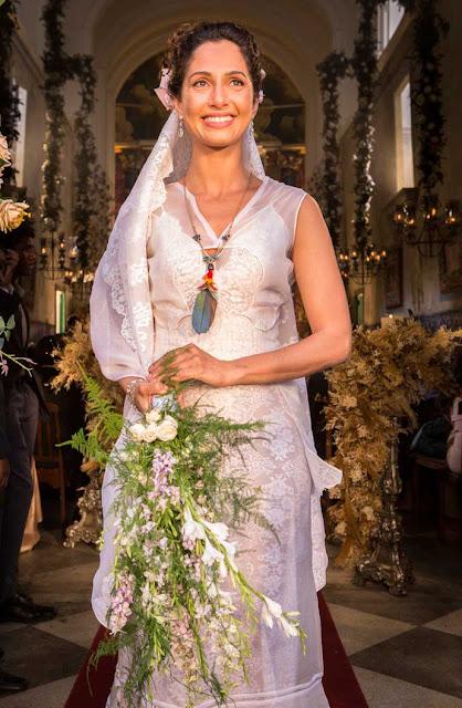 Vestido de noiva Velho chico final, casamento Santo e Tereza (Camila Pitanga)