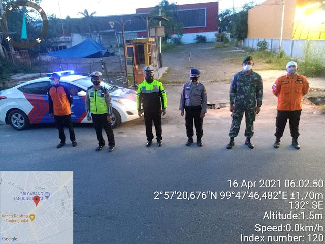 Personel Jajaran Kodim 0208/Asahan Bersama Instansi Pemerintah Berpatroli Dalam Cegah Balap Liar